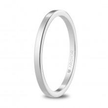 Alianza de boda plana oro blanco de 1,65mm anchura 5B17530