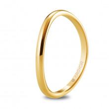 Alianza de boda media caña curvada con 1,8mm en oro amarillo 5118531