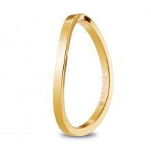 Alianza de boda oro amarillo plana curvada con 1.65mm ancho 5117532