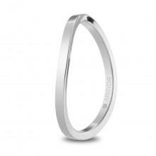 Alianza de boda oro blanco plana y curvada con 1,65mm de anchura 5B17532