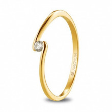 Anillo de pedida en oro amarillo con diamante 0,06ct 74A0085