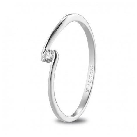 Anillo de compromiso oro blanco diamante talla brillante 0,06ct 74B0085