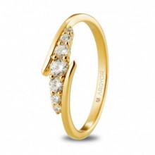 Anillo de compromiso con circonitas oro amarillo 18 quilates 74A0074Z