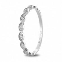 Anillo de compromiso oro blanco con 7 diamantes 74B0071