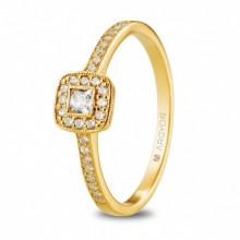 Precioso anillo de pedida con circonitas en oro amarillo 74A0091Z