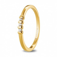 Anillo con tres diamantes talla brillante total 0,09ct oro amarillo 74A0079