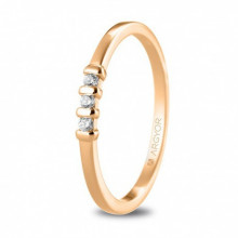 Anillo de compromiso con 3 diamantes talla brillante 0,09ct 74R0079