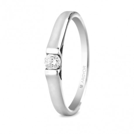 589b8e3953fe Anillo de compromiso con 1 diamante de 0