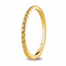 Anillo oro amarillo con 17 diamantes talla brillante 0,17ct 74A0070
