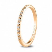 Anillo oro rosa con 17 diamantes redondos 0,17ct 74R0070