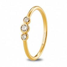 Anillo de compromiso oro amarillo 3 diamantes 0,16ct 74A0073