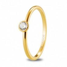 Anillos de compromiso de oro amarillo con diamante 74A0078