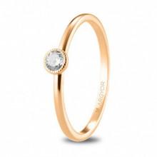Sortija de compromiso oro rosa con diamante de 0,15ct 74R0078
