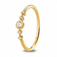 Anillo compromiso oro amarillo con diamantes 0,16ct 74A0084