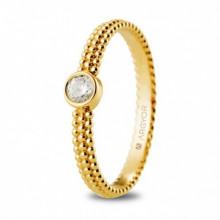 Solitario de oro amarillo con diamante talla brillante de 0,14ct 74A0075