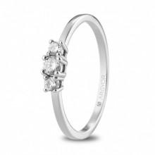 Argolla de compromiso oro blanco y diamantes total 0,19ct 74B0083