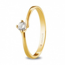 Solitario de compromiso de oro amarillo con diamante 0,16ct 74A0072
