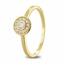 Anillo de compromiso en oro amarillo con diamantes 74A0088