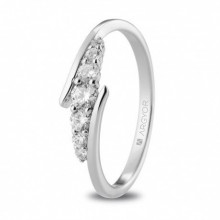 Anillo oro blanco con diamantes talla brillante 0,28ct 74B0074