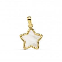 Colgante estrella de nácar oro amarillo 18858