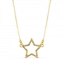 Colgante estrella de oro amarillo 18k 16858