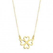 Colgante de corazones oro amarillo 16848