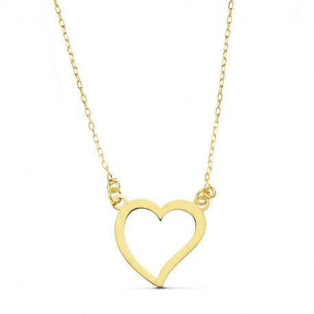 Colgante de corazón en oro amarillo de 18k 16841