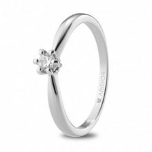 Anillo de compromiso con diamante de 0,15 ct 74B0130