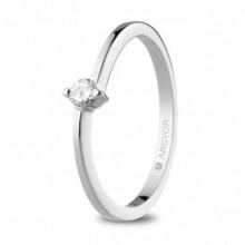 Anillo de compromiso de diamante con 2 garras 74B0154