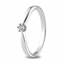 Anillo de compromiso con pequeño diamante de 0,03 ct 74B0511