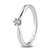 Soritija de compromiso con pequeño diamante de 0,05 ct 74B0512