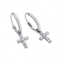 Pendientes Lotus Silver cruces LP1243-4/1