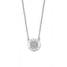 Colgante Lotus Silver redondo con piedras blanco LP1252-1/1