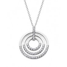 Colgante Lotus Silver tres círculos con circonitas LP1755-1/1