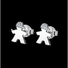 e45a269e2b73 Pendientes Lotus Silver niño en plata con cierre de presión LP1582-4 2