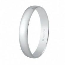 Alianza de plata 3,5mm forma media caña 57353