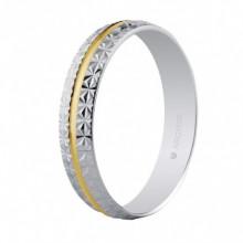 Alianza de boda bicolor facetada 4mm de ancho 5240296