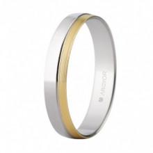 Alianza oro bicolor de 3,7mm ancho oro blanco y amarillo 5240481
