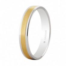 Alianza de boda oro bicolor satinada 3,6mm Argyor 5240497