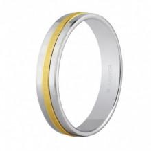 Alianza de boda bicolor facetada con 4mm de ancho 5242255
