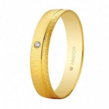 Alianza Argyor 18 kilates en Oro amarillo (4.5mm) con un diamante de 0,01ct